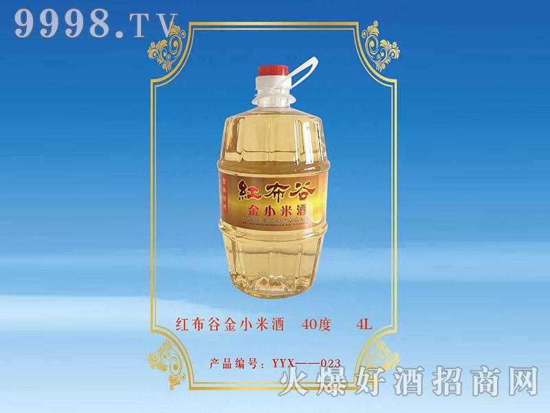 红布谷金小米酒40°4L浓香型白酒