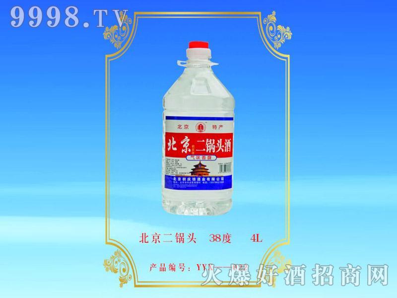 北京积庆坊二锅头酒38°4L浓香型白酒