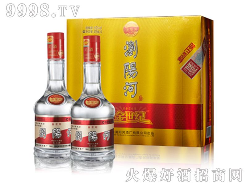 正品金世纪双礼盒42°52°475ml浓香型白酒
