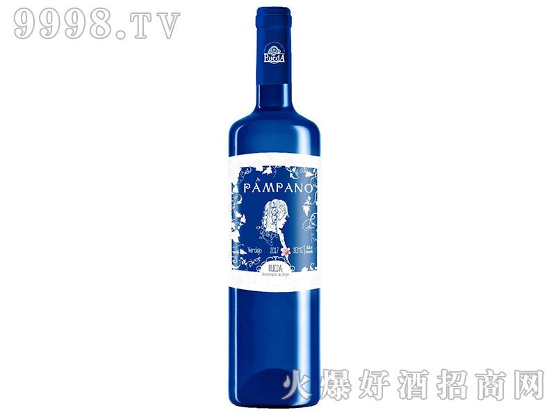 西班牙蓝色少女半甜白葡萄酒