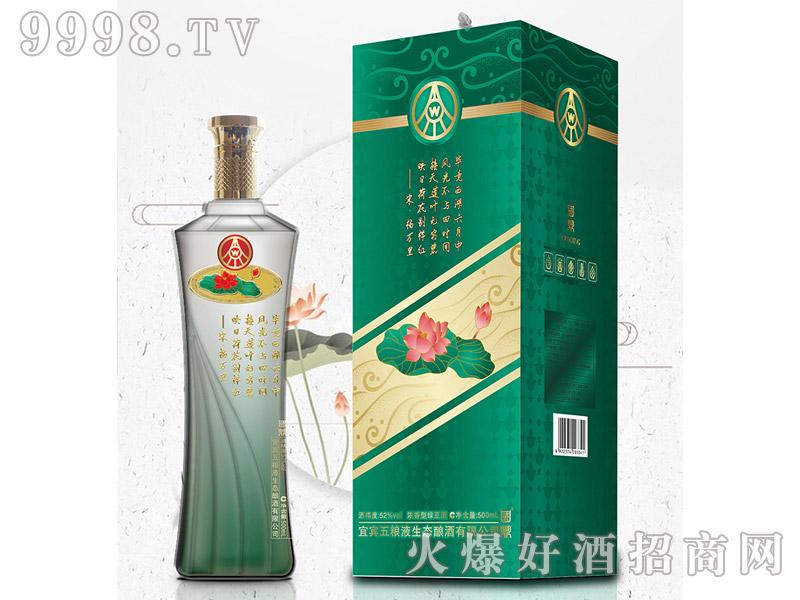 国鼎荷花酒N88 52°500ml浓香型绿豆酒