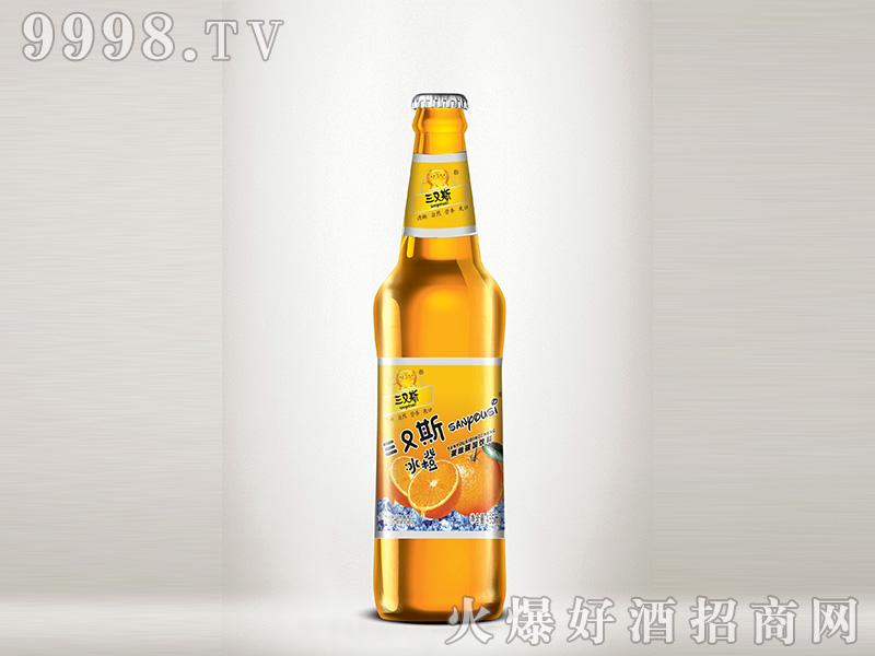 汉斯冰橙果味碳酸饮料485ml