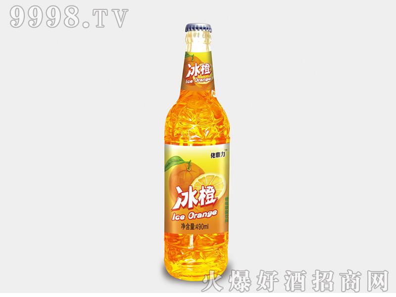 佬鼎力冰橙果味碳酸饮料490ml