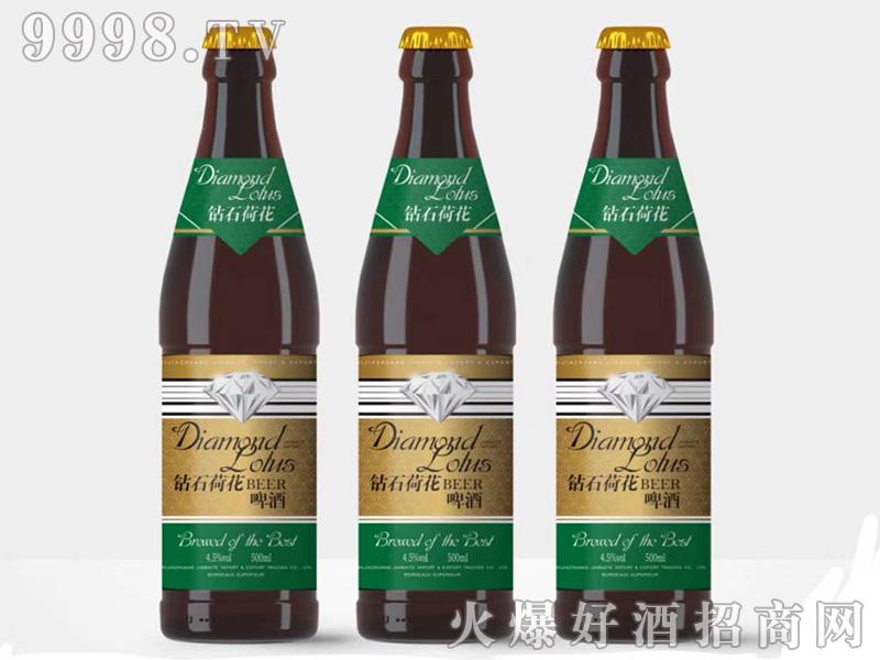 钻石荷花全麦啤酒浑浊型10°P3.6%vol500ml