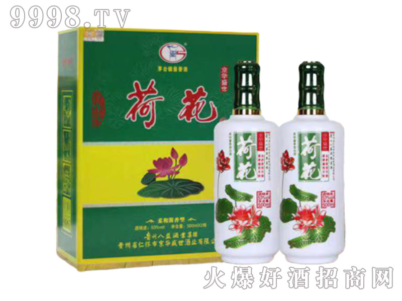 京华盛世酒荷花酒V80酱香型53度500ml