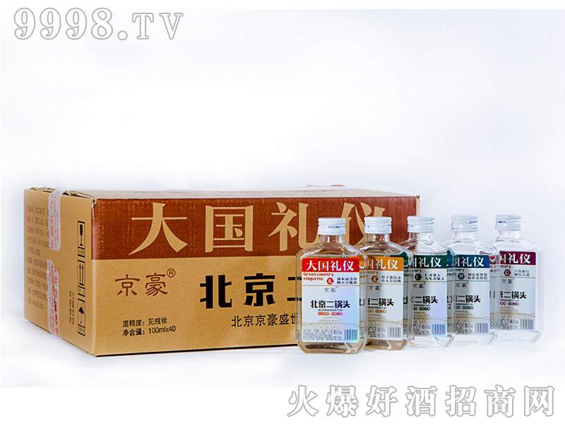 京豪大国礼仪北京二锅头42°100mlx40浓香型白酒