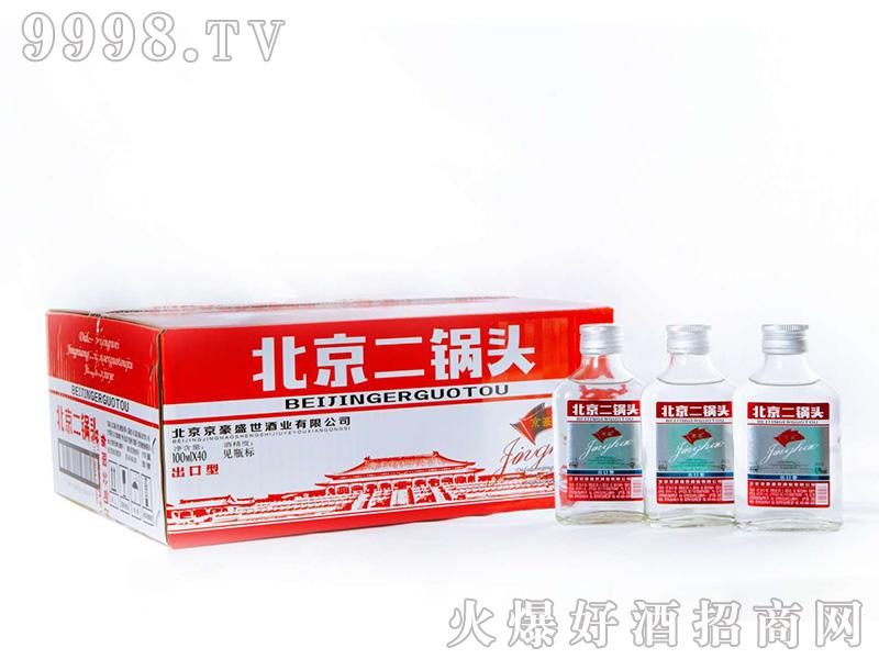 京豪北京二锅头出口型42°100mlx40红标浓香型白酒