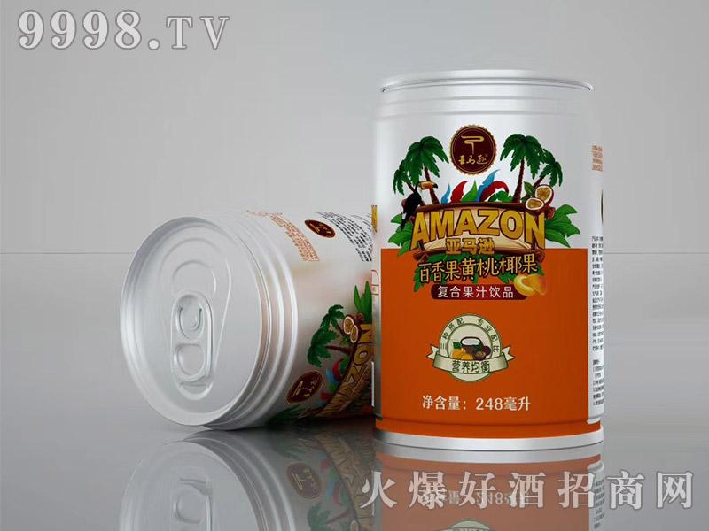 亚马逊饮品百香果黄桃椰果248ml