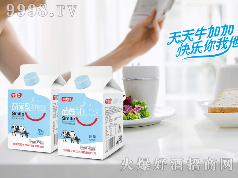 牛加加益菌乳酸牛奶原味(屋顶盒餐饮奶)