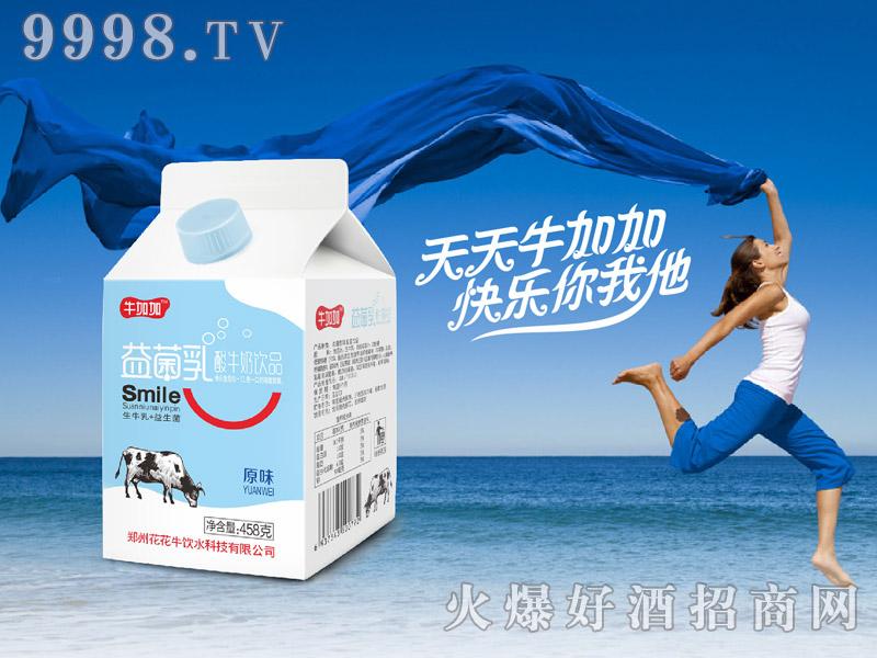 牛加加益菌乳酸牛奶(屋顶包酸奶饮品)
