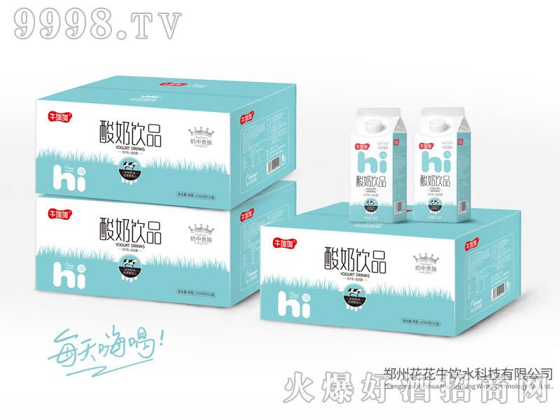 郑州花花牛-牛加加酸奶饮品340g×15盒(屋顶包酸牛奶饮品)