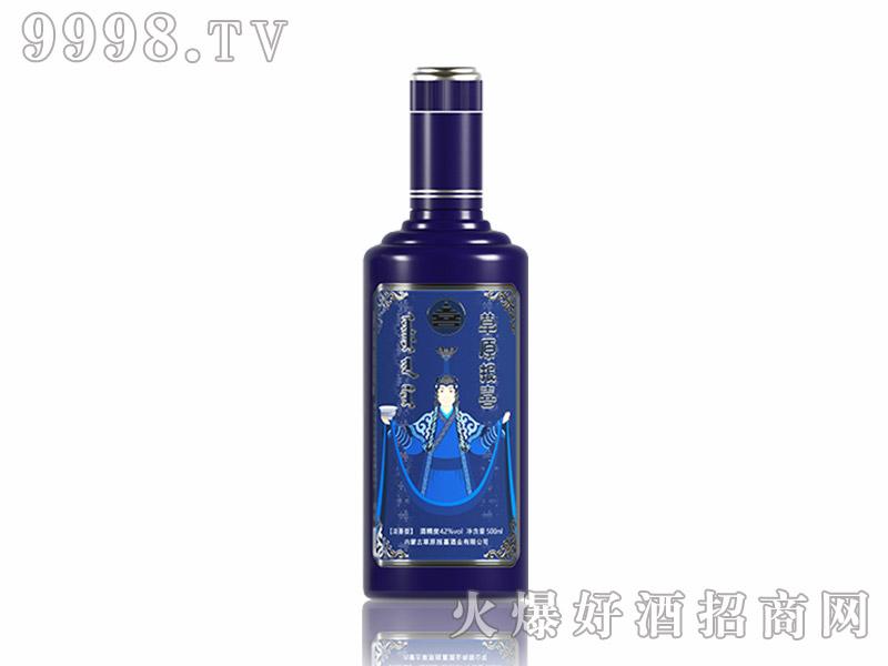 草原报喜家有喜事(蓝色)42度500ml浓香型