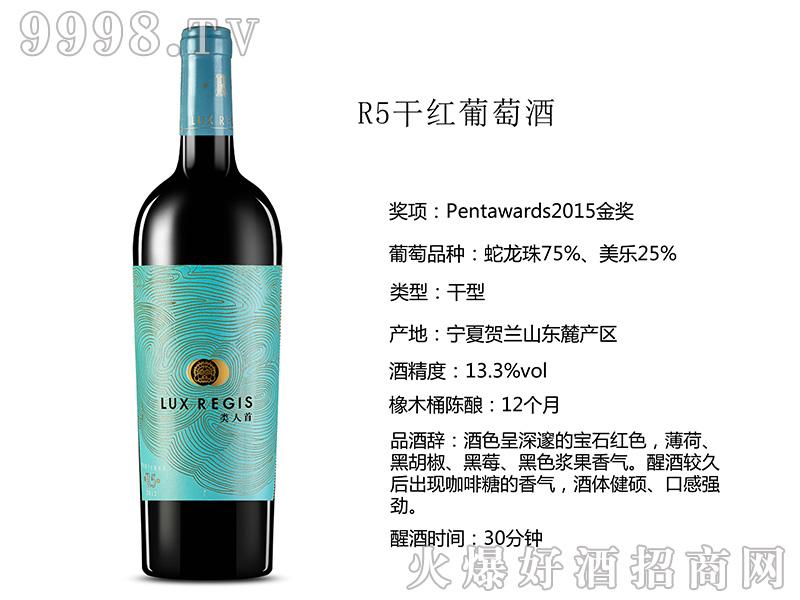 类人首R5干红葡萄酒13°750ml