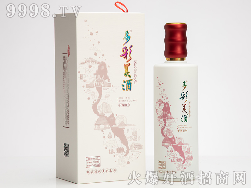 多彩美酒·贵山53°500ml酱香型白酒