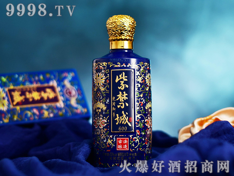 紫禁城酒600(珐琅彩蓝)53°500ml酱香型白酒