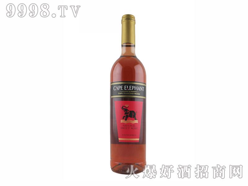 开普大象低度甜桃红葡萄酒【8度750ml】