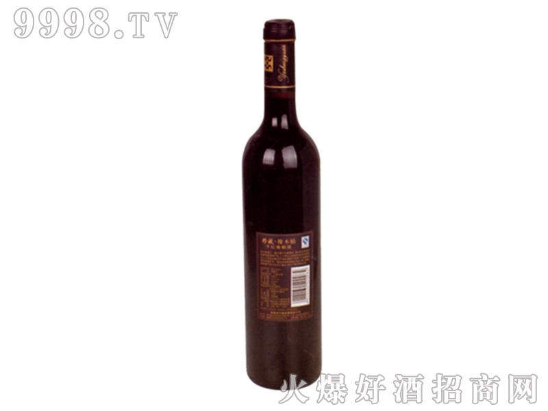 亚升圆干红葡萄酒珍藏橡木桶(背标)