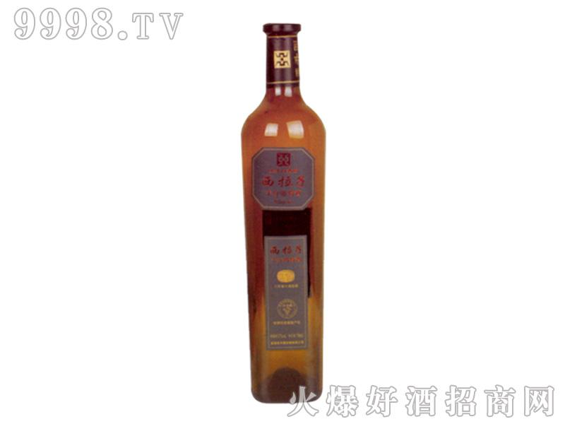 亚升圆红酒(背标)