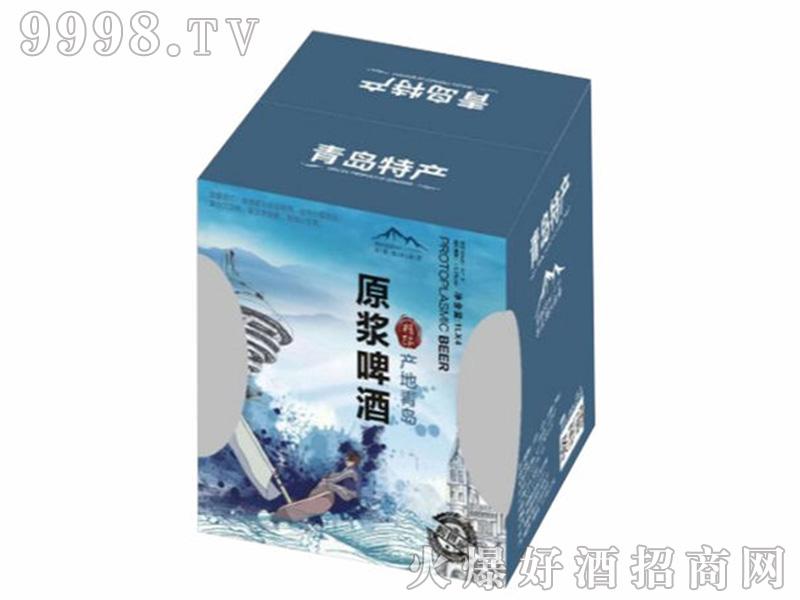 崂世家原浆白啤1000mlX4礼品盒