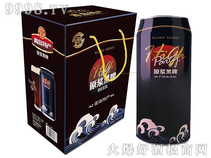 崂世家原浆黑啤500mlX10礼品盒