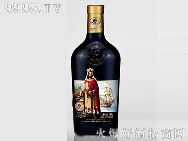歌图人生国王W珍藏干红葡萄酒开模瓶【14度999mlx6】
