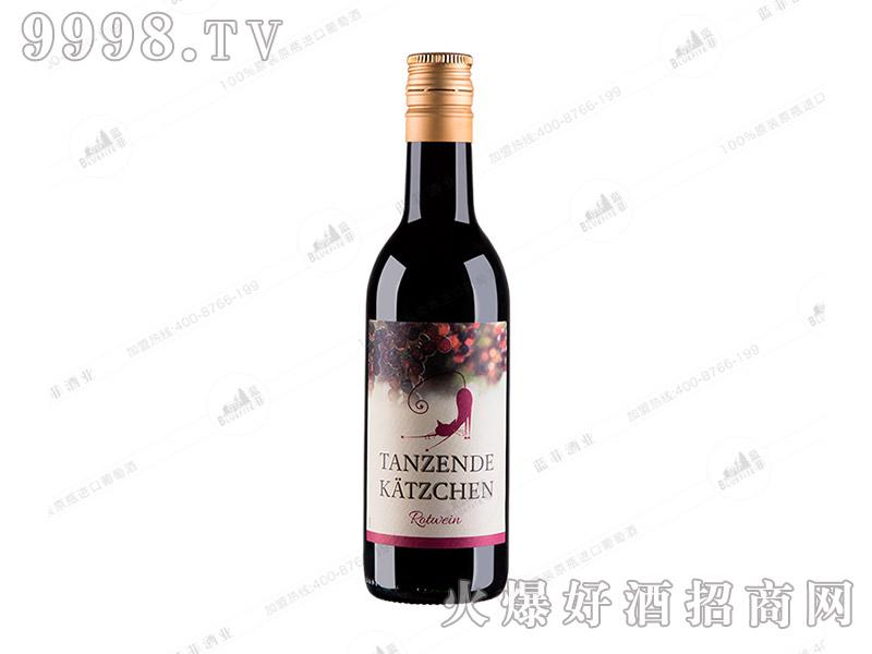 跳舞小猫红葡萄酒【187ml】
