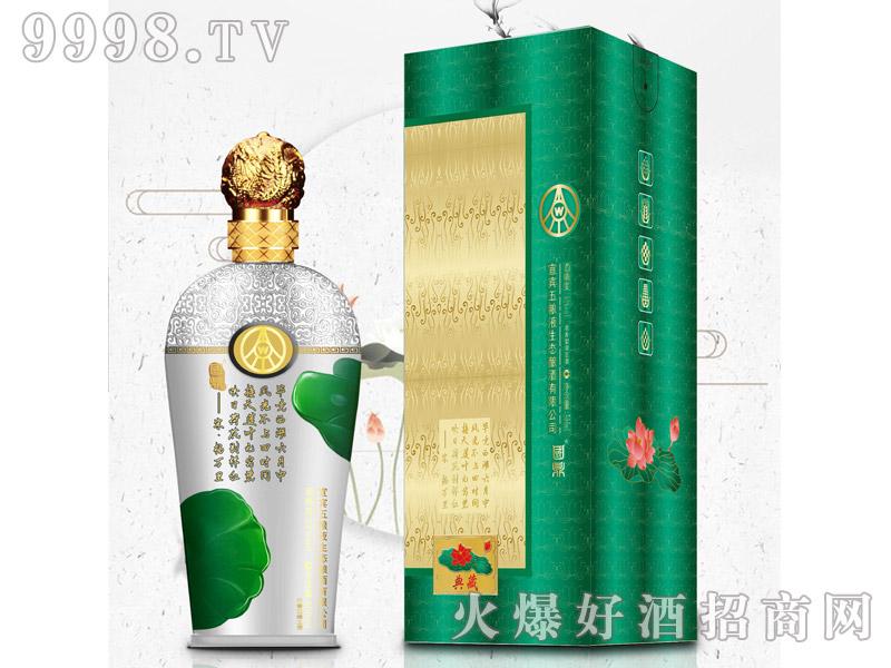 国鼎荷花酒典藏浓香型绿豆酒【52°500ml】