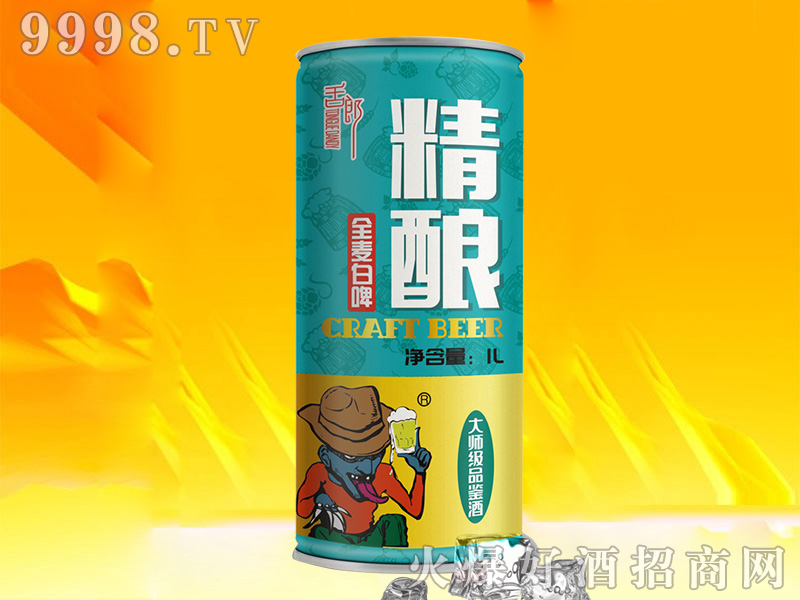舌郎精酿全麦白啤酒(罐装)【11°1L】