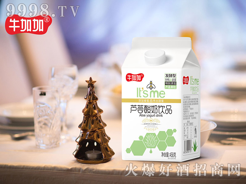牛加加芦荟酸奶饮品458克