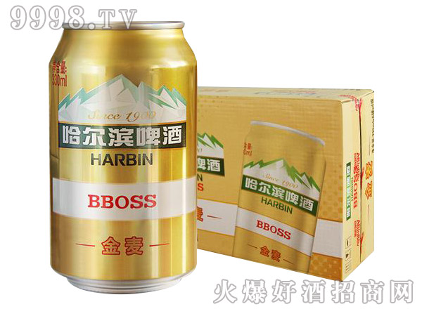 哈尔滨啤酒金麦330ml