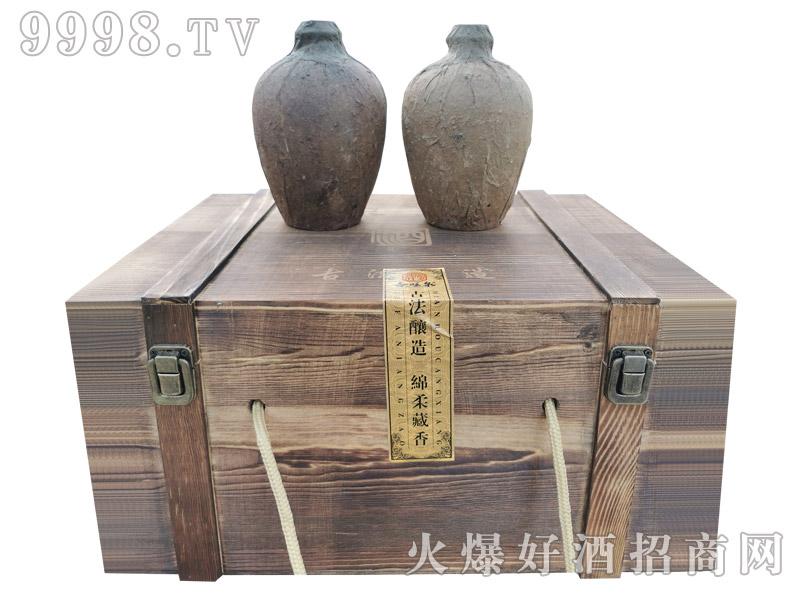 杏旺泉酒窖藏原浆木箱【50°500ml×6坛】