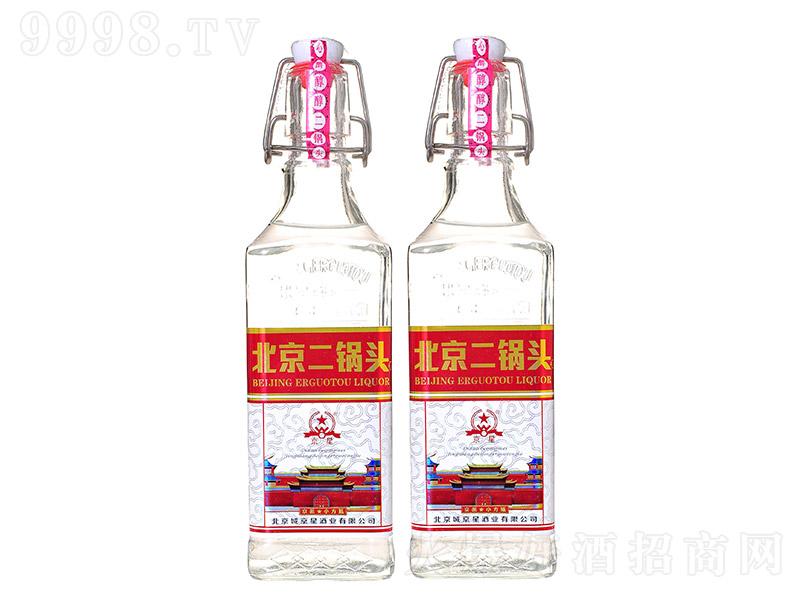 京星北京二锅头清香型白酒京派小方瓶红标【42度500ml】
