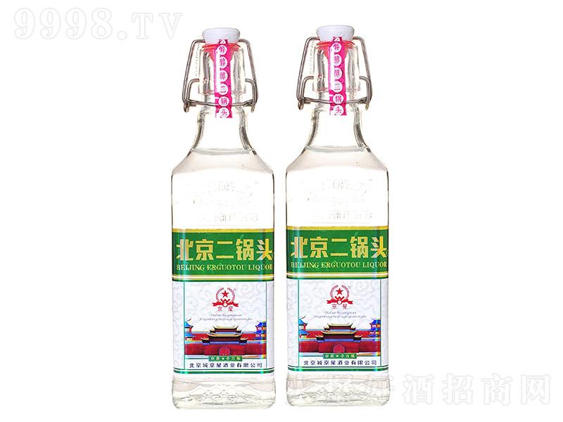 京星北京二锅头清香型白酒京派小方瓶绿标【42度500ml】