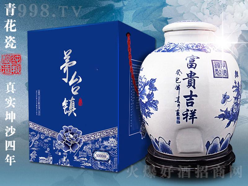 青花瓷封坛酒 酱香型白酒【53° 5000ml】