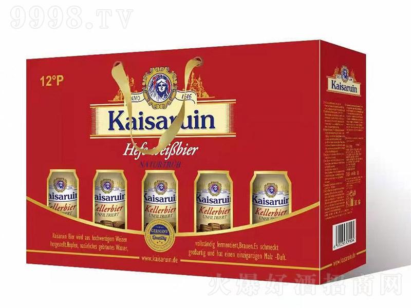 凯撒啤酒礼盒红【12度 500ml×10罐】