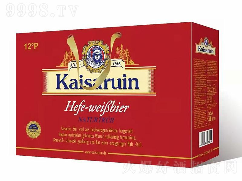 凯撒啤酒礼盒红盒【12度 500ml×10罐】