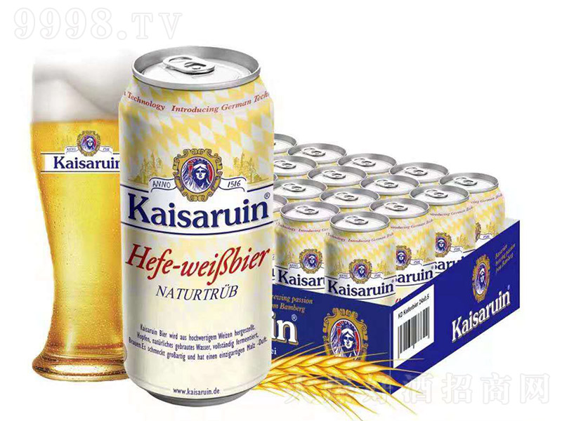 凯撒啤酒乳白罐【12度 1L】