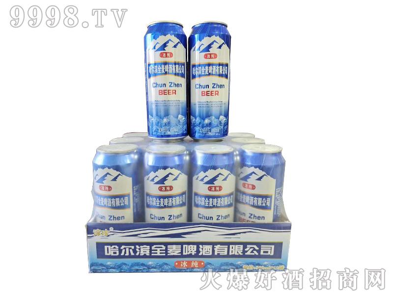 哈尔滨全麦冰纯啤酒【8度 500ml】