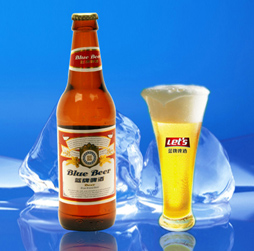 蓝牌冰啤酒