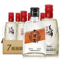 毛铺苦荞酒42度125ml×6(大团圆白酒箱装)