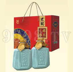 大越绍兴花雕酒五年青瓷礼盒
