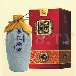 大越绍兴花雕酒十年青花瓷