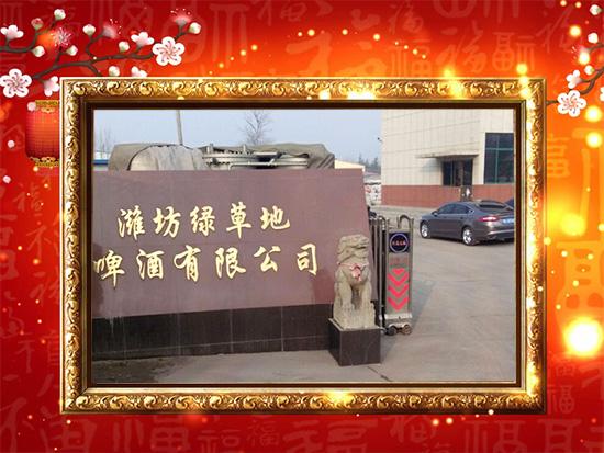 【潍坊潍坊绿草地银稞啤酒】全体工作人员祝愿您在崭新的一年事业再上新台阶!