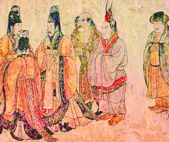 章怀太子墓壁画 礼宾图