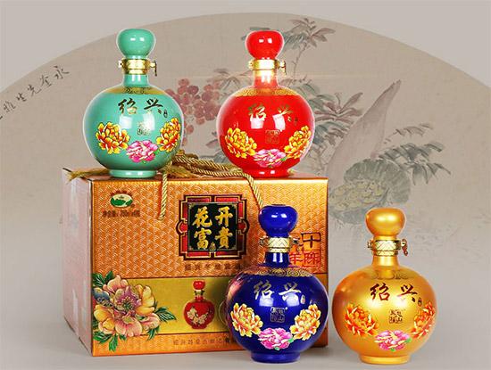 绍兴黄酒花开富贵二十年陈花雕酒750ml×4坛价格,多少钱?