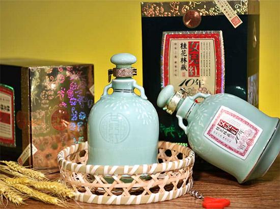 绍兴黄酒女儿红桂花林藏十年陈500ml价格,多少钱?