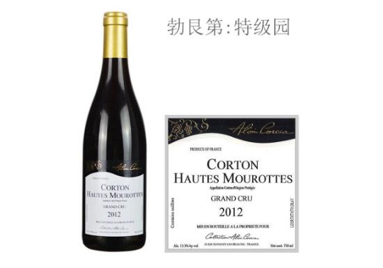 科奇亚酒庄上莫洛(科尔登特级园)红葡萄酒2012年价格,多少钱?