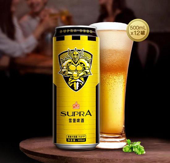 11°珠江啤酒雪堡黄啤酒500ml价格,多少钱?