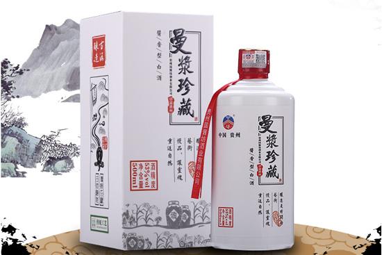 贵州曼浆酒单瓶53度礼盒装酱香型粮食高粱酒原浆白酒