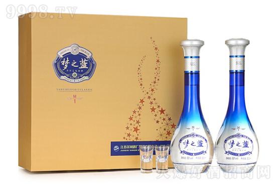 52°洋河蓝色经典梦之蓝M1礼盒装绵柔浓香型白酒500ml价格,多少钱?
